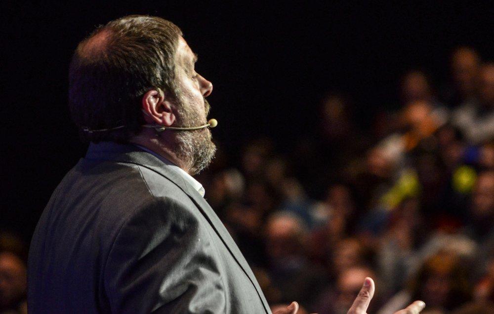 Oriol Junqueras, leader della Sinistra Repubblicana Catalana. Foto: Marc Puig i Perez Licenza:  CC 2.0