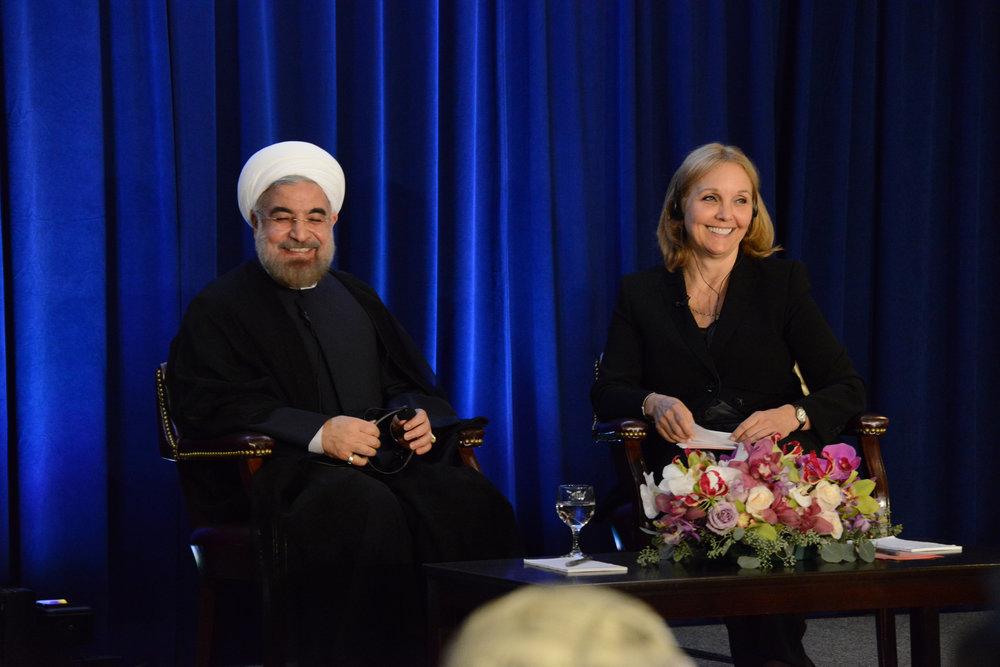 Il Presidente Iraniano Hassan Rouhani, alla Asia Society di New York nel 2013. Foto: Asia Society Licenza:  CC 2.0