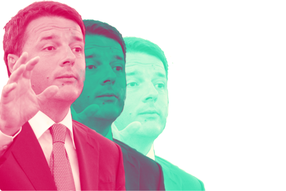 Dove andrà Renzi dopo le elezioni del 4 marzo? Forse in Europa grazie a Macron, sostiene Jacopo Barigazzi su Politico. Elaborazione grafica: il Caffè e l'Opinione. Foto originale: Parlamento Europeo Licenza: CC 2.0