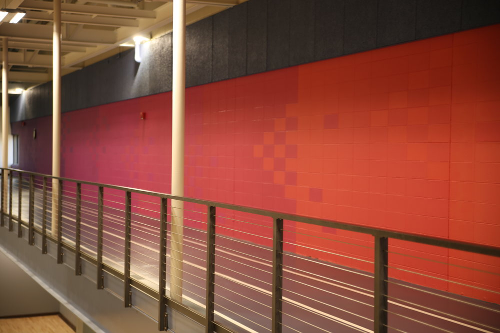 Members have the option to walk or jog the 1/12 of a mile, elevated, three lane  Indoor Walking Track  during   undesirable   weather.
