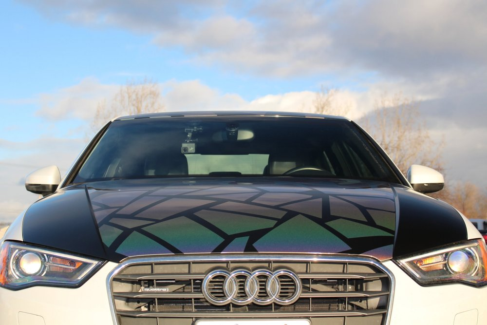 Audi A3 Broken Glass Wrap