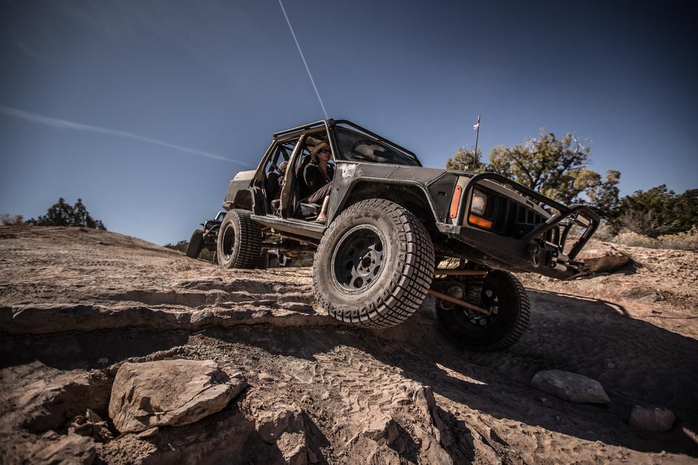 Built XJ on steelbender in moab, ut