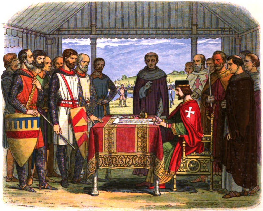 King John signs the Magna Carta by James Williams Edmund Doyle (author) and Edmund Evans (engraver)   Source