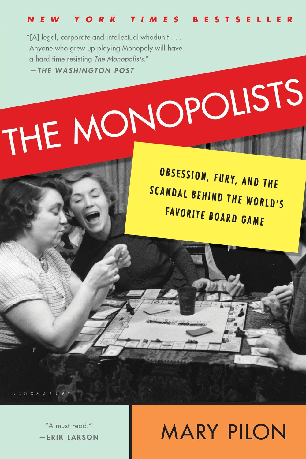 Book jacket, The Monopolists, by Mary Pilon