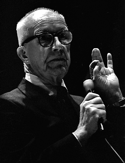 Buckminster Fuller, 1972-3 tour at UC Santa Barbara  By  Dan Lindsay
