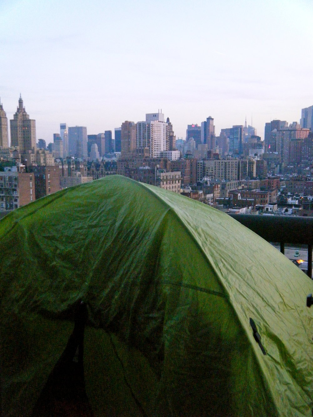 Urban Camping on the Upper West Side of NYC  by  Sarah Ackerman