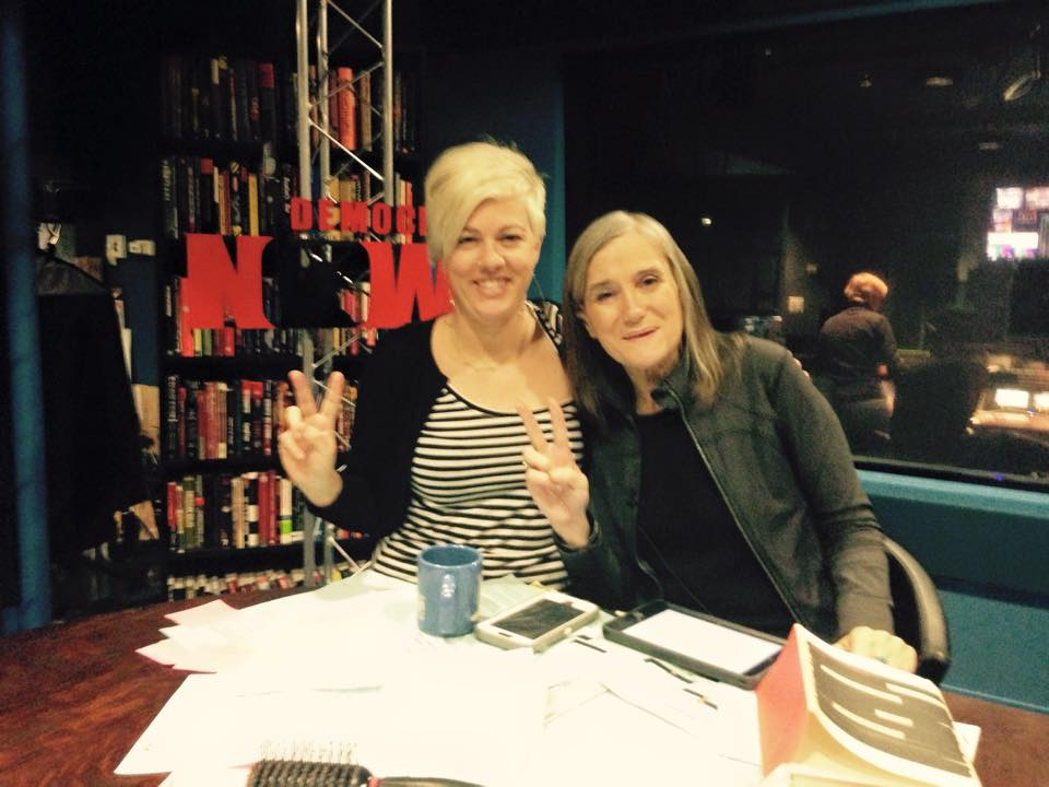 Alex Kelly with Amy Goodman