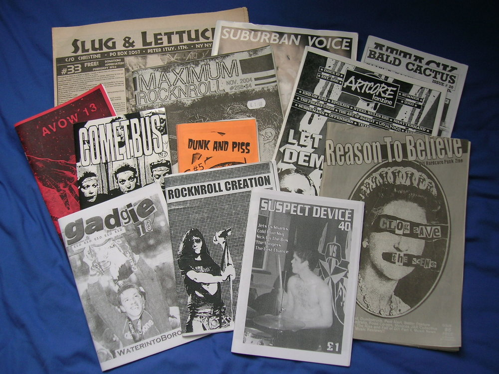 UK and US Zines   Source