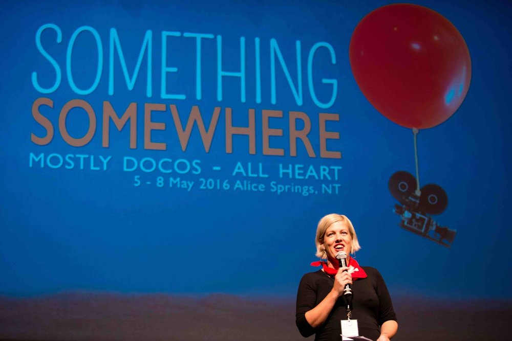 Alex Kelly, organizer of Something Somewhere film fest