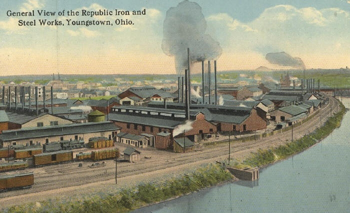Republic Iron and Steel Works, Youngstown, Ohio   Source