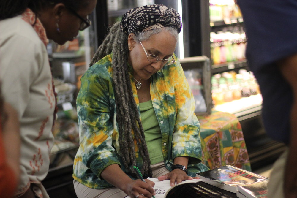 Book signing at  Mandela Foods  in West Oakland, CA, 2015  Courtesy of Jessica Gordon Nembhard