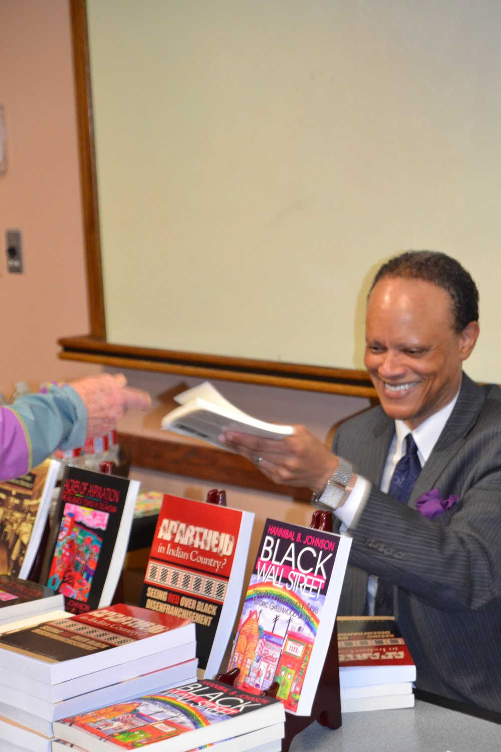Bartlesville Book Signing, April 2014  Courtesy of Hannibal Johnson