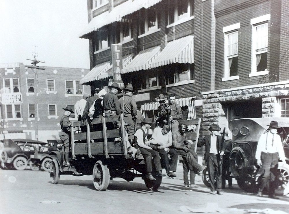 National Guard and wounded during 1921 Tulsa race riots