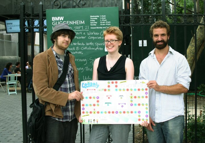 Team Co-opoly (Brian, Molly, and Andrew) at the Guggenheim Lab