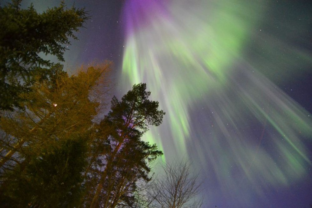 The Northern Lights over Juha's home