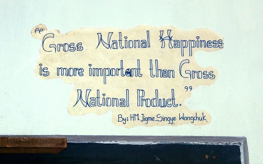 Slogan found at Thimphu's School of Traditional Arts, Bhutan