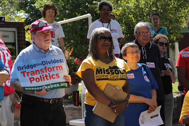 Nuns on the Bus Tour, 2014; Kansas City