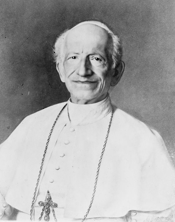 Pope Leo XIII, author of Rerum Novarum, Capital and Labor, 1891 encyclical