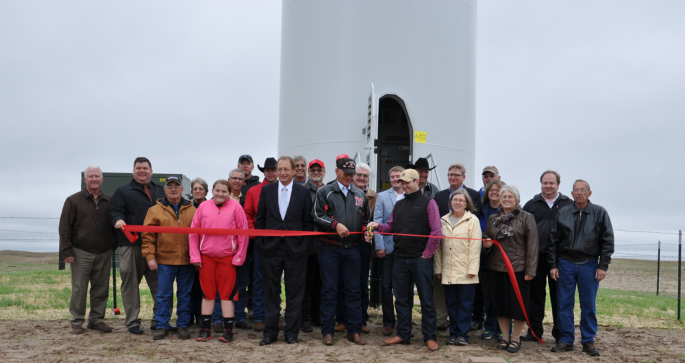 Ribbon cutting ceremony for Valentine turbine - September 2014