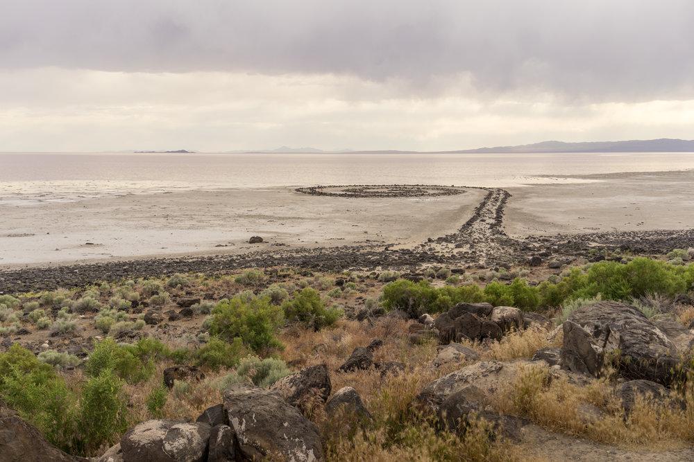 Spiral Jetty (1970) Robert Smithson. Rosen Point, Great Salt Lake, Utah. Photo: Tiago Silva Nunes