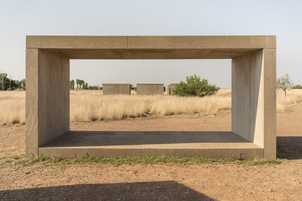 15 untitled works in concrete, Donald Judd, Marfa, Texas. Photo: Tiago Silva Nunes