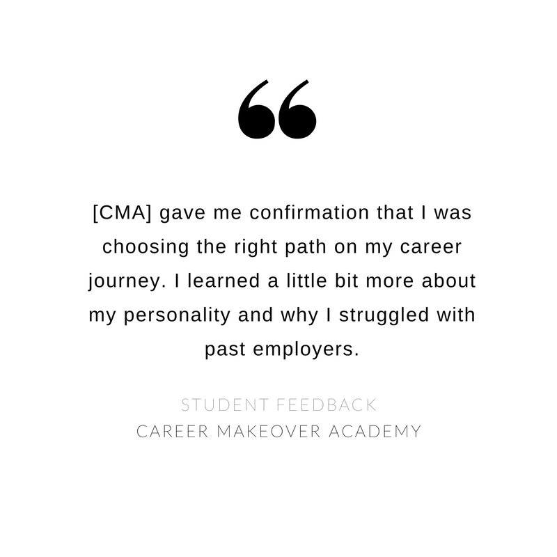 Career Makeover Academy - Student Feedback 3