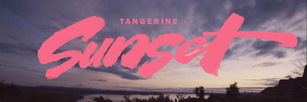 "Title card for ""Sunset"" by Tangerine, directed by Shaun Libman"