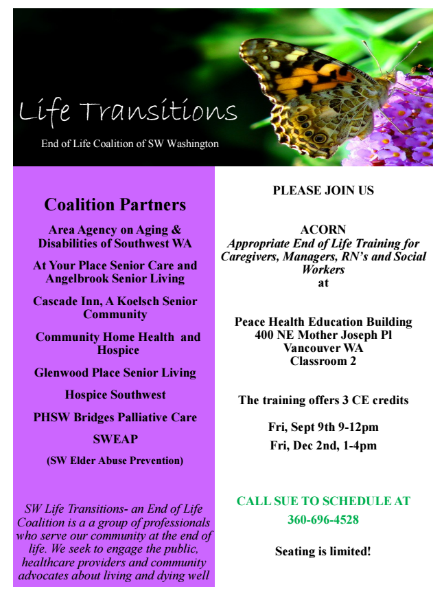 Click on the flier to see a larger version.