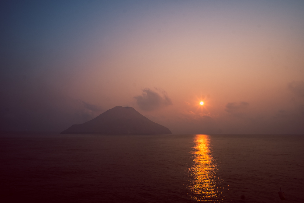 Sunrise over Narcandom Island, Andaman Sea, India