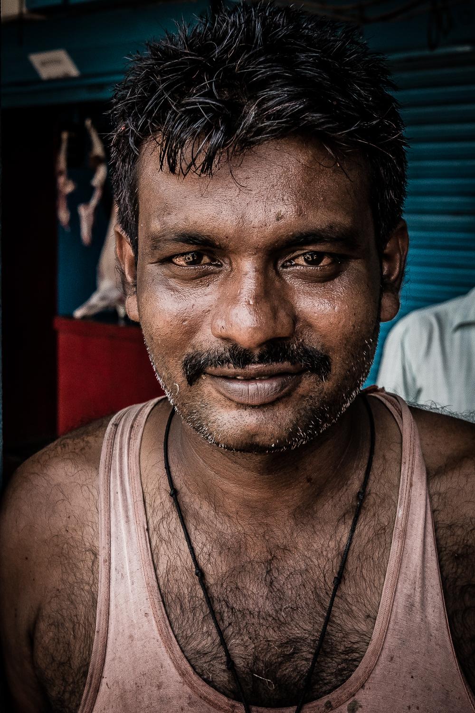 Butcher, Aberdeen Bazaar, Andaman Island, India
