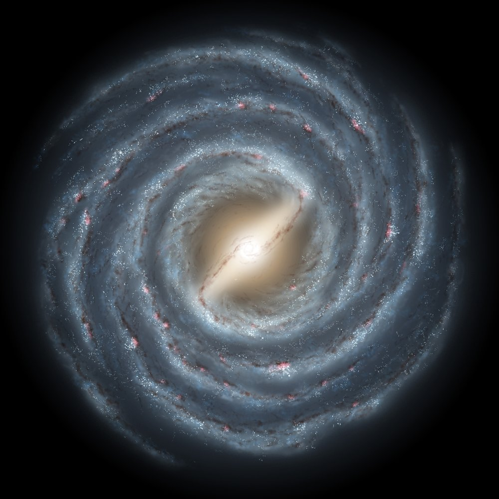 Artist's concept of the Milky Way Galaxy. GLAST will provide detailed information on where stars are forming. Image credit: R. Hurt (SSC), JPL-Caltech, NASA