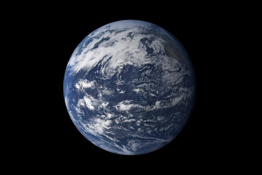 This detailed, photo-like view of Earth is based largely on observations from the Moderate Resolution Imaging Spectroradiometer (MODIS) on NASA's Terra satellite. Image credit: NASA