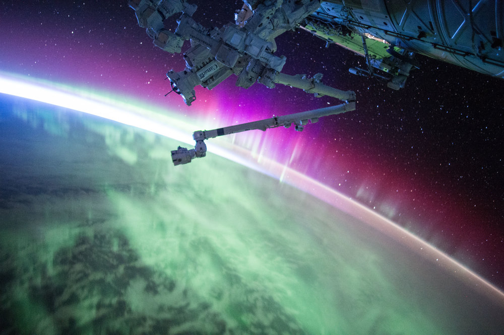 "Astronaut Scott Kelly posted this photo of an aurora taken from the International Space Station to Twitter on August 15, 2015 with the caption, ""Another pass through #Aurora. The sun is very active today, apparently. #YearInSpace"". Image credit: NASA/S.Kelly"
