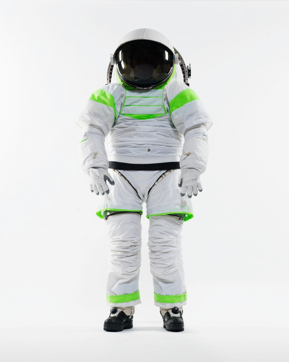 The Z-1 is NASA's next generation spacesuit, a prototype of which is pictured at the Johnson Space Center. Image credit: NASA