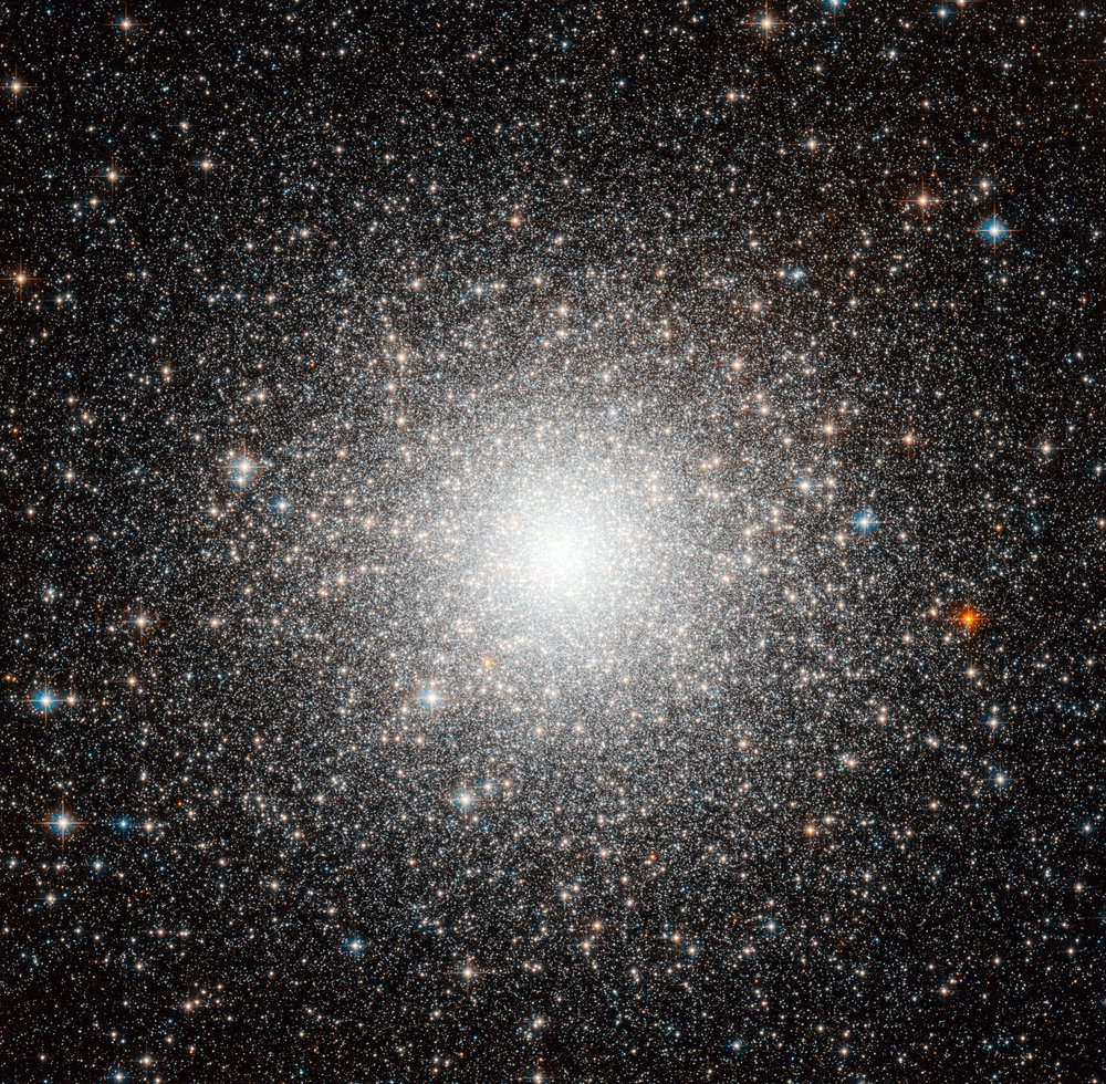 The object shown in this beautiful Hubble image, dubbed Messier 54, could be just another globular cluster, but this dense and faint group of stars was in fact the first globular cluster found that is outside our galaxy.  Image credit:  ESA/Hubble & NASA