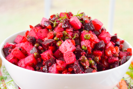 Venigret   Beet & potato salad.