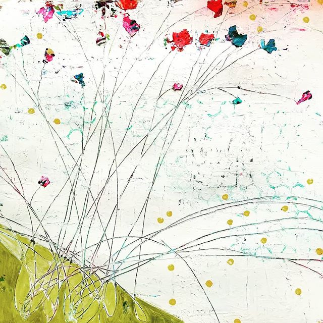 Feeling spring today. Fun on paper and acrylic skins.