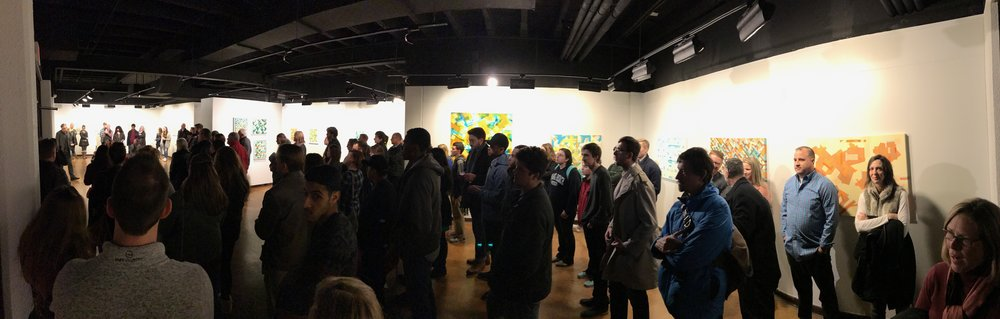 Gallery talk on opening night