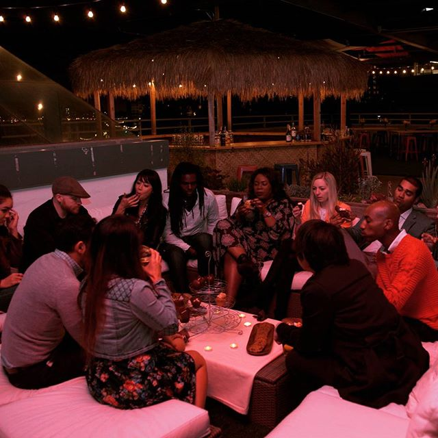 Nothing better than gathering with some close friends on a summer night at the rooftop. . . . . . #theoverlooklounge #rooftop #oakland #bayarea #tiki #nightlife #chill #friends