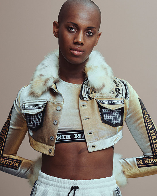 An image from Selfridges Agender Fashion Campaign in Feb 2015