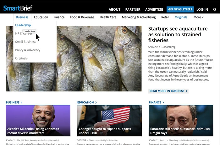 Smartbrief filters literally thousands of sources to deliver only the most relevant industry news.