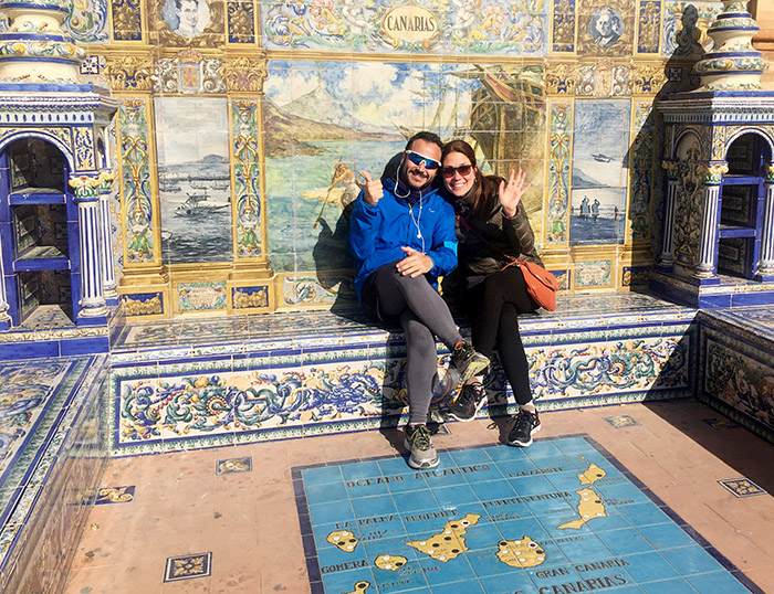 Kirsten and charming hubby Ramón share a passion for life in Spain