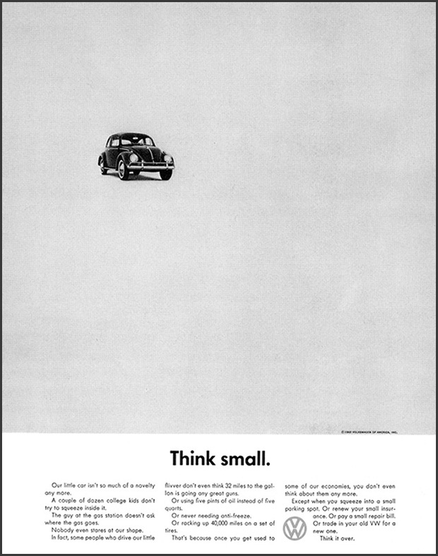Robin's early inspiration came in college, where she studied the impact of the revolutionary Volkswagen ads in which simple visuals contained the power to tell a story.