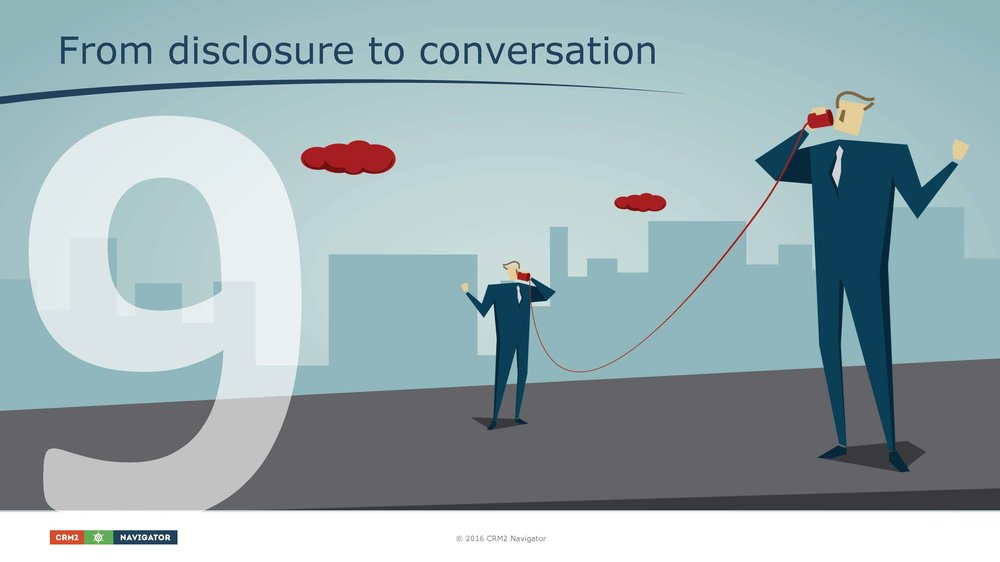 Module 9: From disclosure to conversation