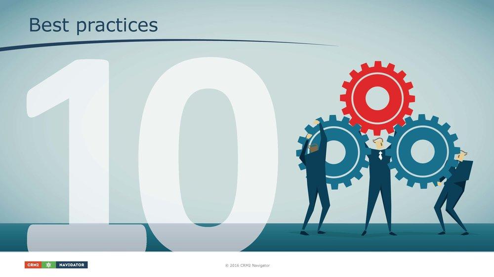 Module 10: Best practices