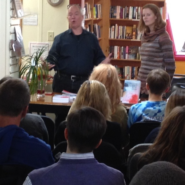 Lucian and Martha speak at Gulliver's Books in Fairbanks