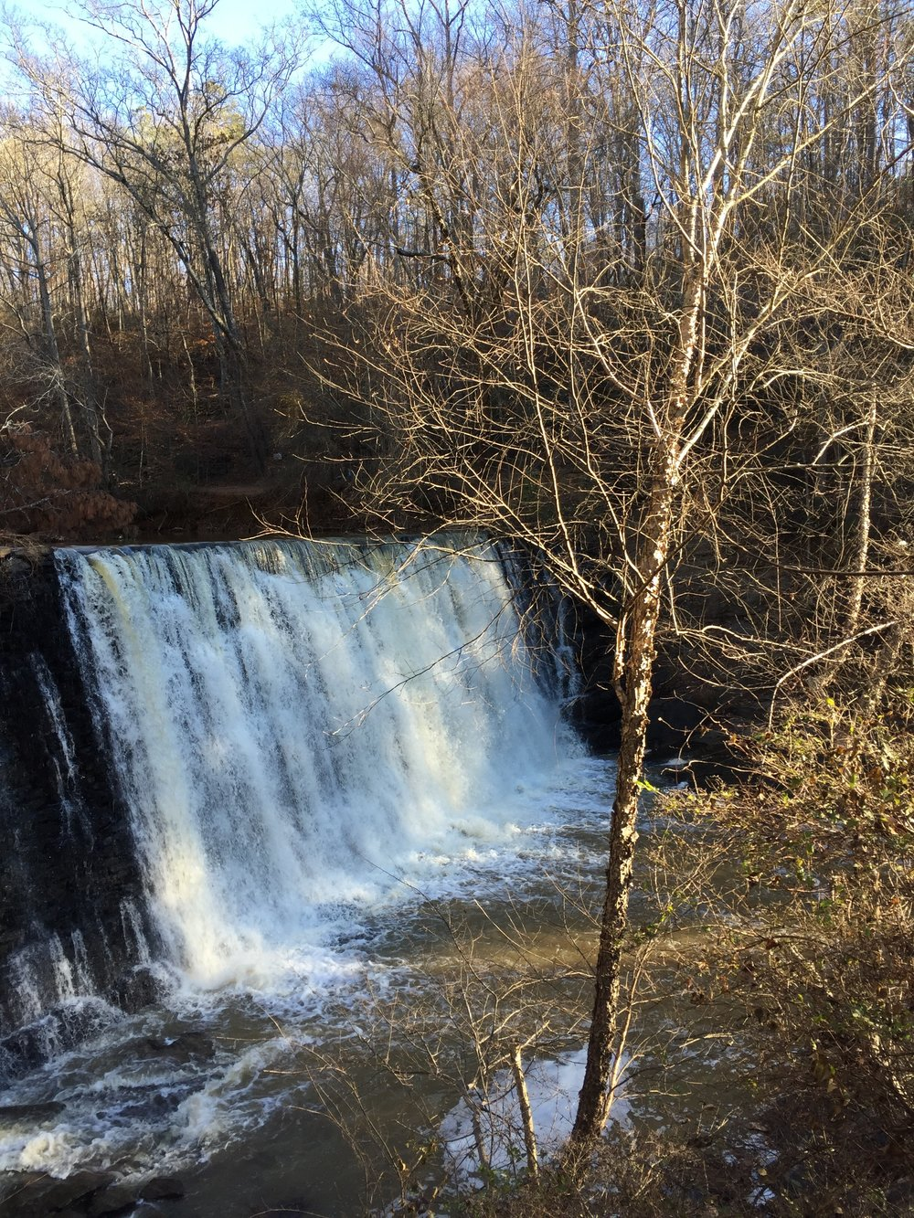 A waterfall that's only five miles from our house. My daughter and I made time to see it last week.