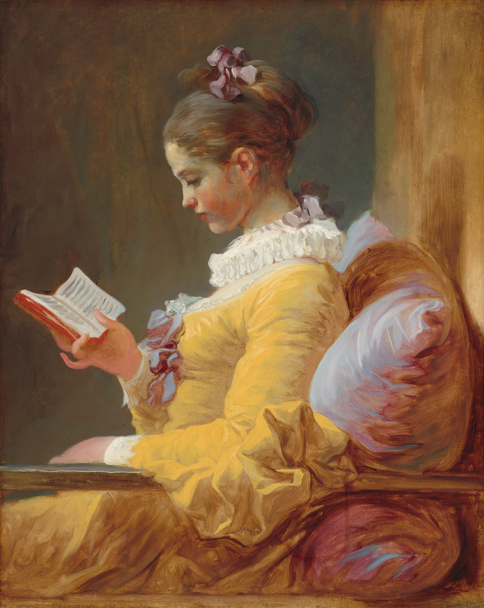 Young Girl Reading,  c. 1770. Jean-Honoré Fragonard. Photo courtesy of the National Gallery of Art.