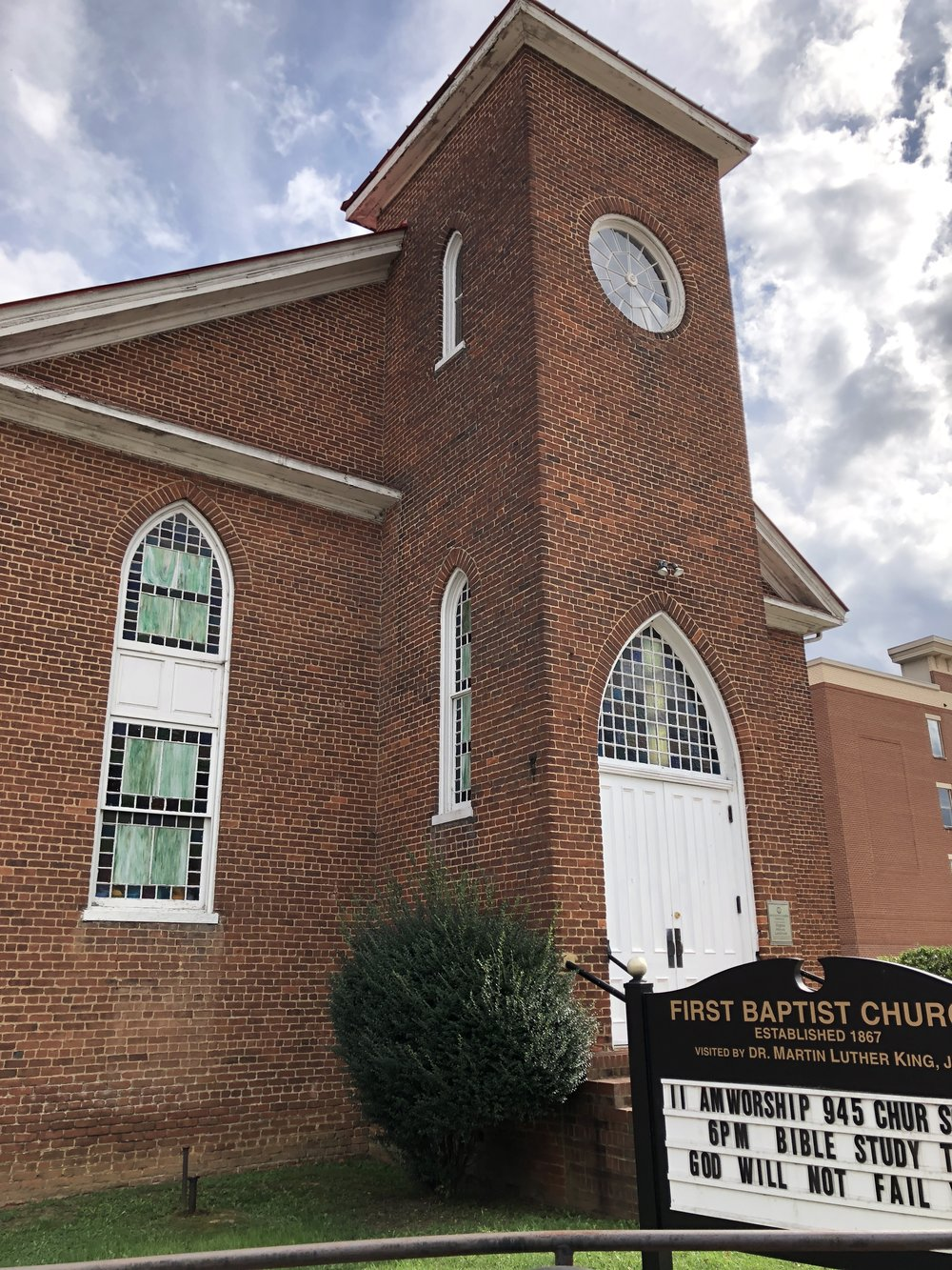 Historic First Baptist Church, on the Civil Rights Trail