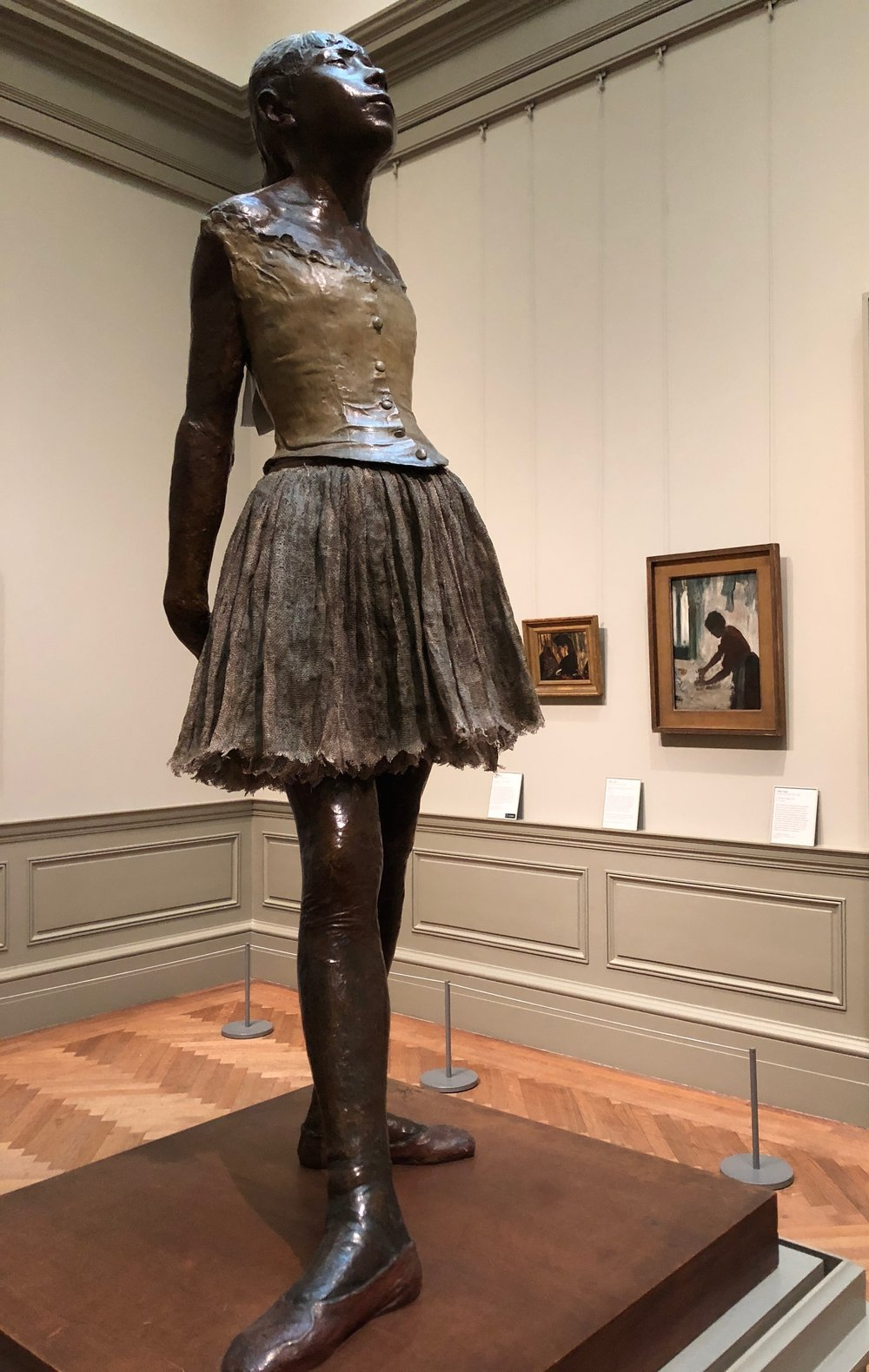 Edgar Degas,  The Little Fourteen-Year-Old Dancer.  Metropolitan Museum of Art